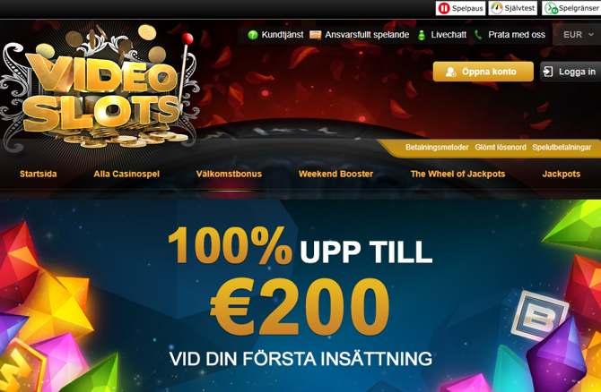 Videoslots casino Välkomstbonus